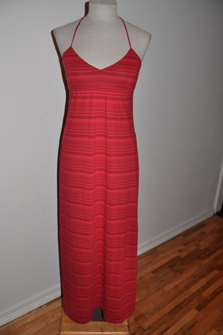 GAP ~ Misses Red Striped Maxi Dress ~ size Small ~ FREE SHIPPING