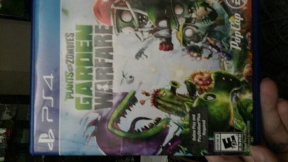 PS4 Plants vs Zombies Garden Warfare