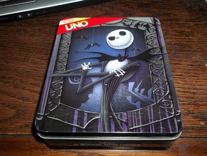 free nightmare before christmas uno card game in collectors tin - Christmas Card Games