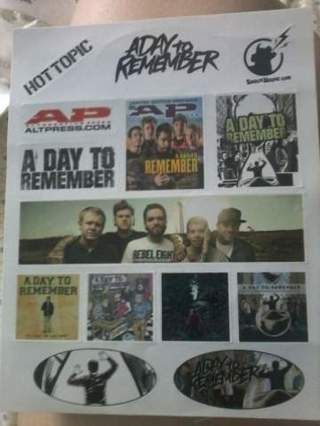 A day to remember band stickers hot topic sticker shockhound sticker album