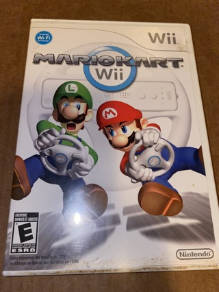 Nintendo Wii MARIO KART game with case and instructions     ok4
