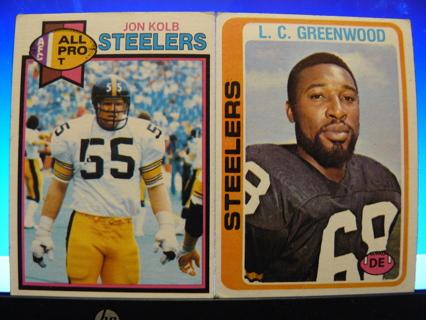 6b3d329ced2 FREE: Vintage 1970s Pittsburgh Steelers cards! 1978 Topps L.C. GREENWOOD & 1979  Topps JON KOLB