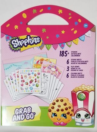 Shopkins Grab And Go Sticker Book