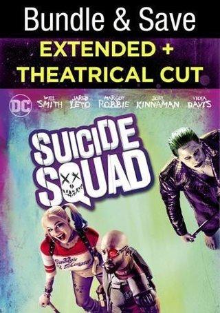 SUICIDE SQUAD VUDU Extended + Theatrical Cut HDX Digital Code