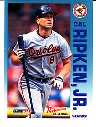 Free Cal Ripken Jr 1992 Fleer The Performer Collection