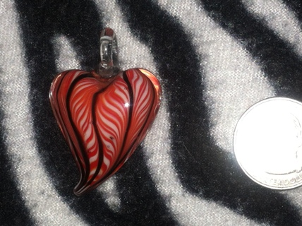 AWESOMES ALL GLASS HEART CHARM!