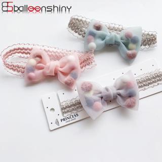 BalleenShiny Princess Baby Girls Headband Elastic Bowknot Plush Ball Beauty Headdress Child Kids H