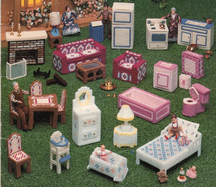 Free Plastic Canvas Instructions Doll House Furniture Other Craft Items