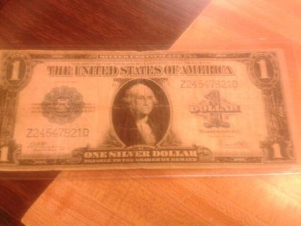 $1.00 large size note silver certificate Horse blanket. Series of 1923