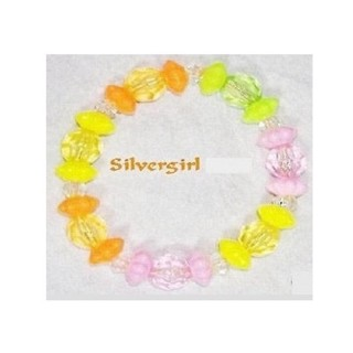 More Childs Girls Kids Tweens Teen Stretch Beaded Bracelet MANY CHOICES