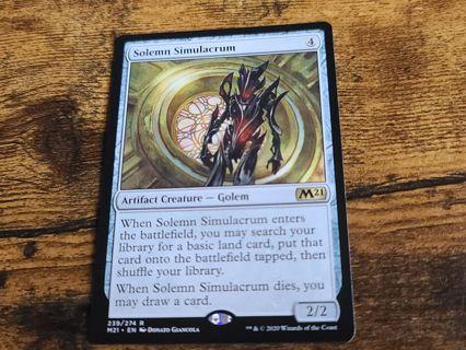 Magic the gathering mtg Solemn Simulacrum rare card M21