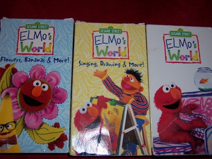 Free Three Sesame Street Elmo S World Movies On Vhs