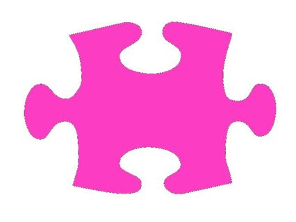 Pink & Purple puzzle pieces Die cut