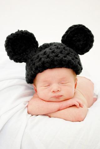 FREE  Handmade Baby Mickey or Minnie Mouse Hat Crocheted Photo Shoot Prop  Newborn Photography Like Disney 940fddf30ef