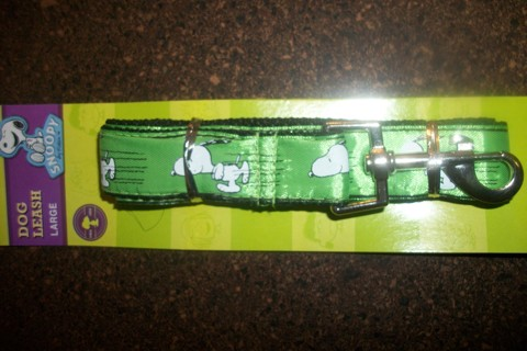 SNOOPY * Dog Leash * Large Size in Green