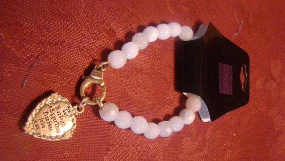 christian inspiration beaded charm bracelet