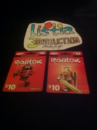 Free 10 Roblox Card Video Game Prepaid Cards Codes Listia