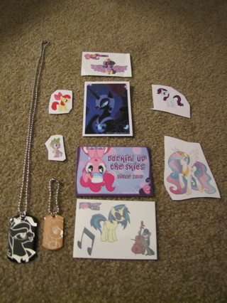 MLP My Little Pony Dog Tag Necklace Keychain Tattoos and Stickers