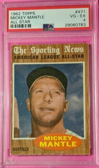 MICKEY MANTLE ALL-STAR * PSA GRADED VERY GOOD TO EXCELLENT