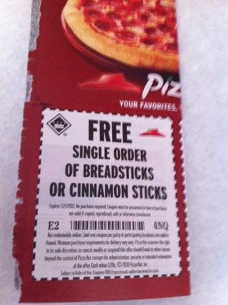 Pizza hut free breadsticks coupon code