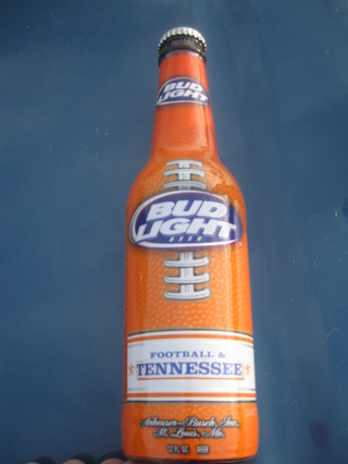 Free Bud Light Collectors Bottle Tennessee Vols Other