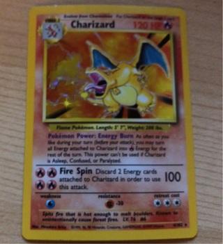 Charizard Pokémon card Holo Charizard 4/102