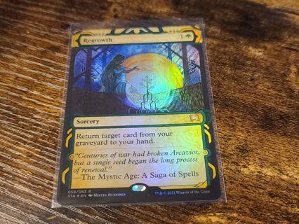 Magic the gathering mtg Regrowth foil rare card Strixhaven