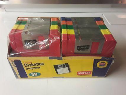 50 Pack Staples 3.5 Floppy Disks Missing 6