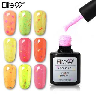 Elite99 10ml Cheese Candy UV LED Gel Polish Top Base Coat Needed Soak Off Nail Lacquer Gel Varnish