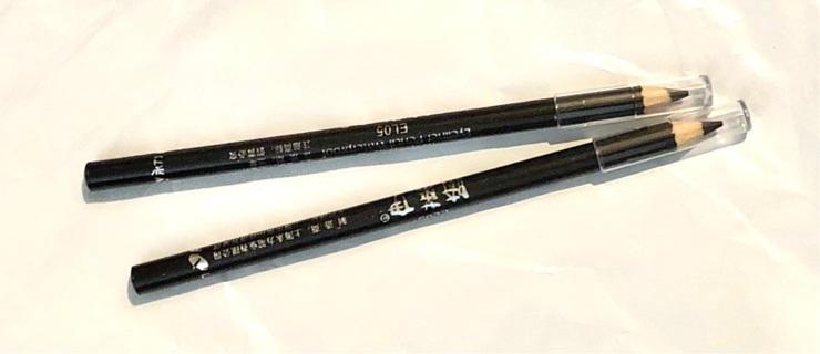 """Brand New: TWO 5"""" Black Eye Liner Pencils. Smooth, Waterproof"""