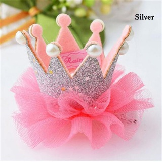 [Hairclip] 1pc Pretty Crown with Lace Hairclip for Girls/Kids/Toddlers