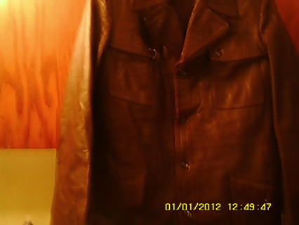 Genuine Brown Long Leather Jacket