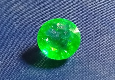 EMERALD NATURAL FROM ZAMBIA HUGE 11.77 CARATS ROUND SIZE 15 MM'S BEAUTIFUL WOW