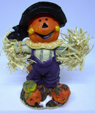 Fun Fall Scarecrow Figurine