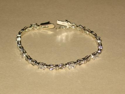 Free  Silver CZ Tennis Bracelet Roman Jewelry Company - Bracelets ... 9c1f4997a