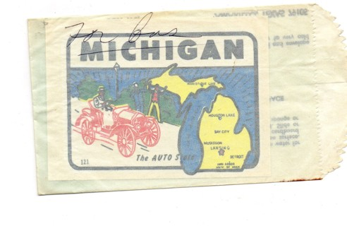 Vintage 1950's Impko Sticker/Decal: Michigan The Auto State