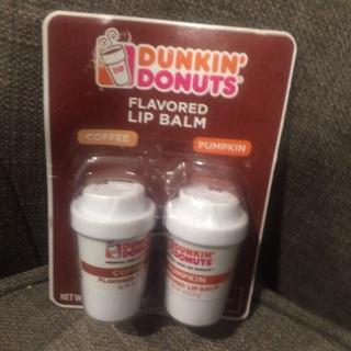 Dunkin Donuts 2 pk lip balm NEW