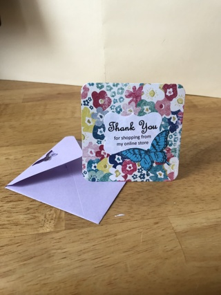 Butterfly Thank You Cards w/ Envelopes