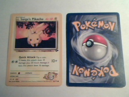Pikachu and Squirtle Pokemon Cards