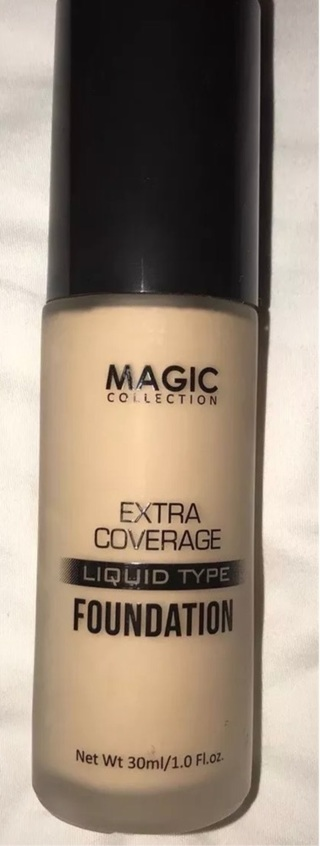 NEW MAGIC COLLECTION EXTRA COVERAGE LIQUID MAKEUP FOUNDATION NATURAL FULL SIZE!