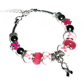 "(NEW!) ""Hope for Trina"" Special Breast Cancer Awareness Euro Bracelet!"