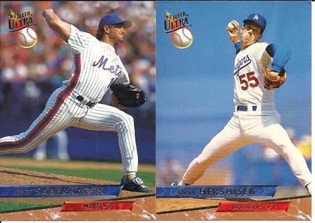 Free 1993 Fleer Ultra Baseball Cards Bret Saberhagen Orel