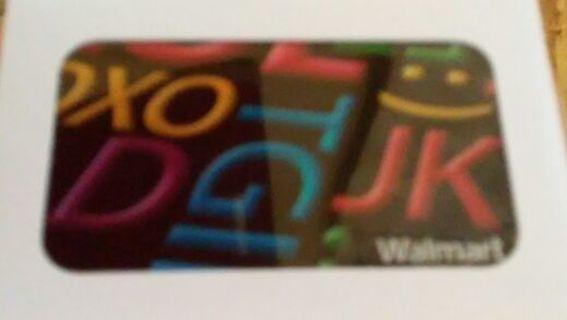 $30 Walmart gift card with gin