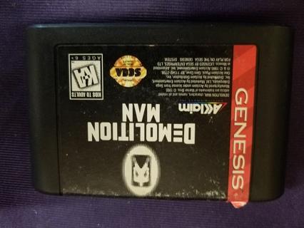 Rare Vintage Demolition Man (Sega Genesis, 1995) Game Cartridge Only