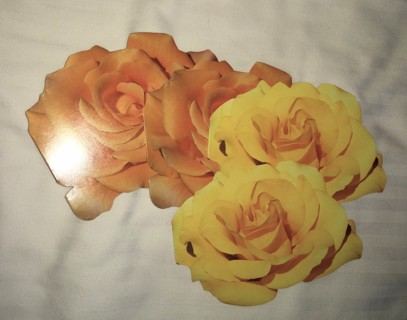 4 Yellow Rose Blank Cards Vntg 1996 New old stock GARDEN