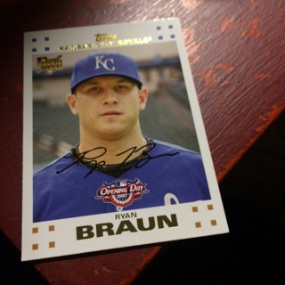 Free Ryan Braun Rookie Card Royals Mlb Sports Trading
