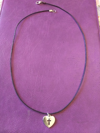 New! Tibetan silver cross heart necklace