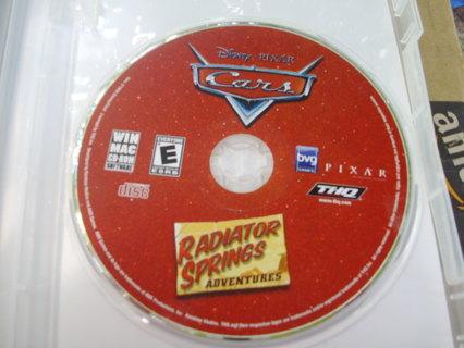DISNEY PIXAR Cars  CD ROM Game