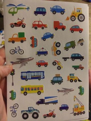 Planes and automobiles stickers