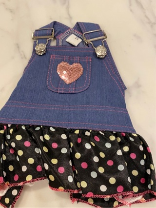 Cute Overall Dog Dress (Very Small)
